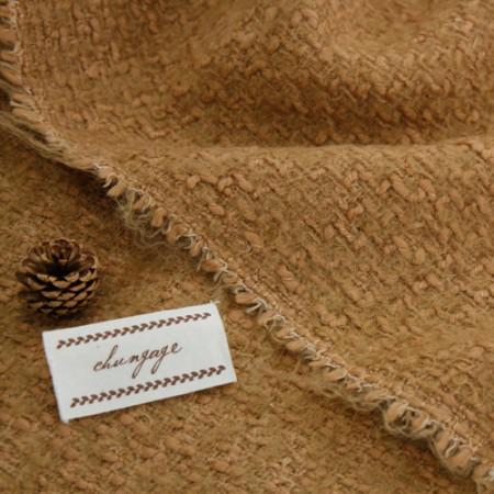 显著 - 花呢羊毛面料)褐色固体