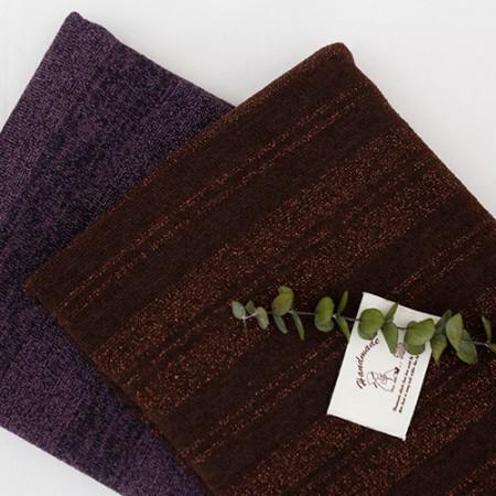 显著针织织物金属)条纹(2种)