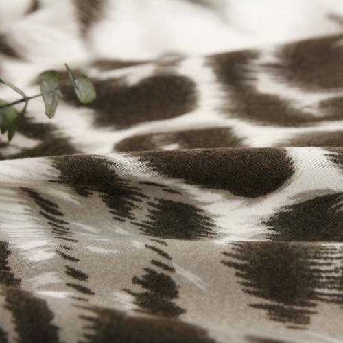 显著 - 磨毛布)豹纹