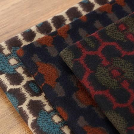 显著 - 拉绒棉织物)复古豹纹(三级)