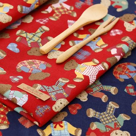 易感棉织物20可以牛津布)甜熊(2种)