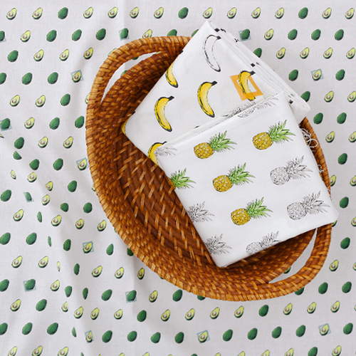 棉织物DTP20 jikcheon水平)热带水果图案(3)