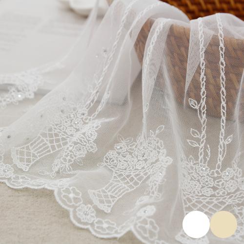网眼刺绣平衡)立方花篮_35cm(2种)