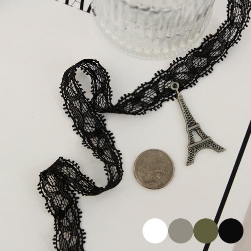[3麻]跨度网眼蕾丝)Belita _10mm(4种) - 发带,很适合用作手链