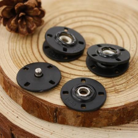 [C11] [5set]手工锯扣按钮20mm_黑