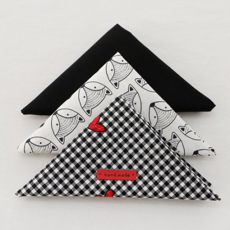 - 它是055]织物包)黑色&哈特(3 jongpaek)1/4麻