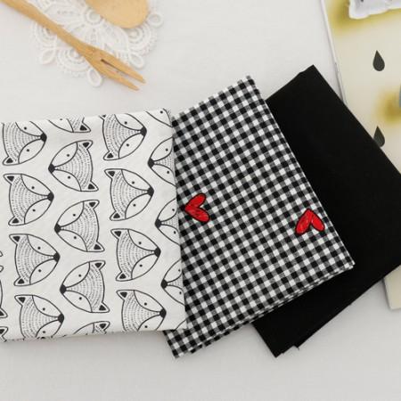 如果jikcheon 20水平织物)和黑色心(3)