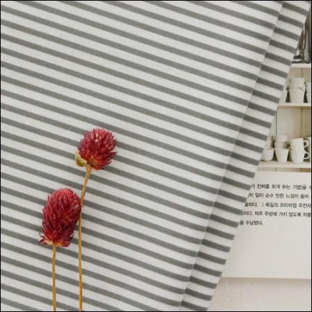 棉共混物)灰色条纹[3951]