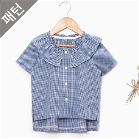 图案 - 儿童)儿童女衬衫[P904]