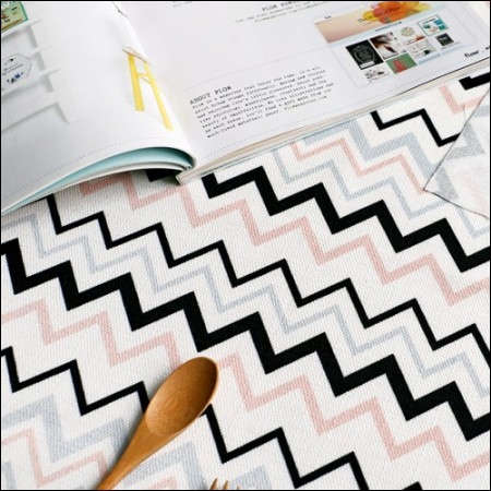 优雅的亚麻切割纸)洛基棒(粉红色曲折)