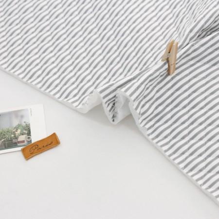 棉混纺皮革)灰色条纹[5051]
