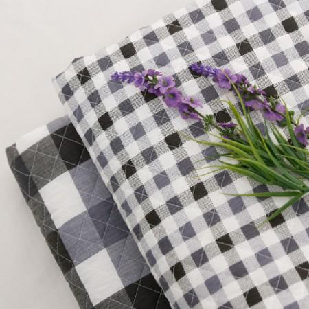 棉混纺皮革)格纹灰色(2种)