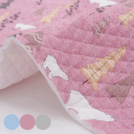棉混纺皮革)熊森林(3种)