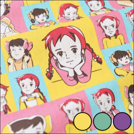 红色的头发和1/2麻 - 棉麻)流行艺术(3种)