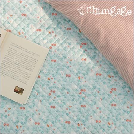 水平表面20 jikcheon绗缝织物)薄荷兔
