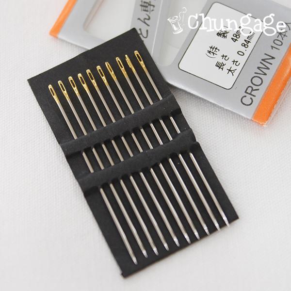 高品质手工套装日本制绗缝针48mm(10个)