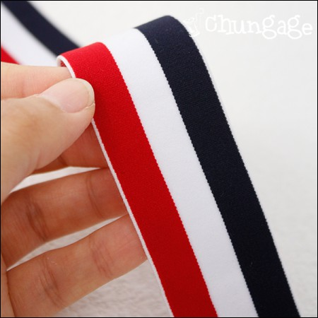 腰部橡皮筋40毫米三重条纹