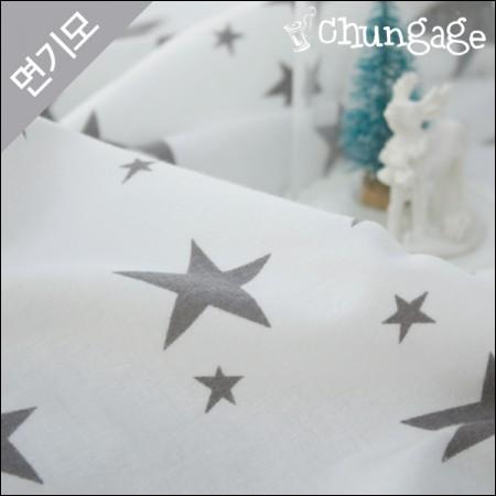 棉拉绒超细纤维面料灰色星星