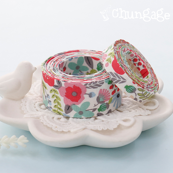 棉布织带织带织带胶伯爵灰色花(3麻/ 2种)