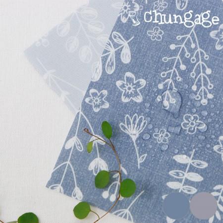 大 - 聚酯纤维防水布)花园素描(2种)