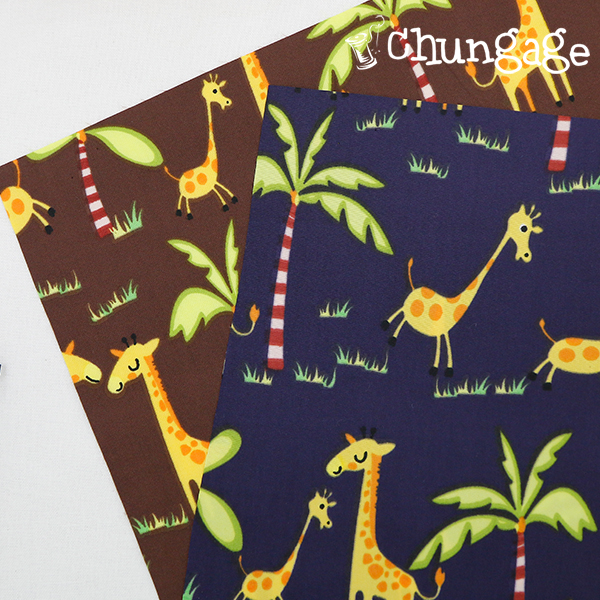 大Dyuposu防水面料)丛林长颈鹿(两种)