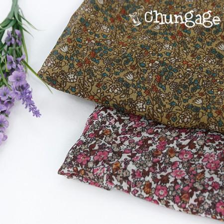 大yoru雪纺)复古花卉(两种)