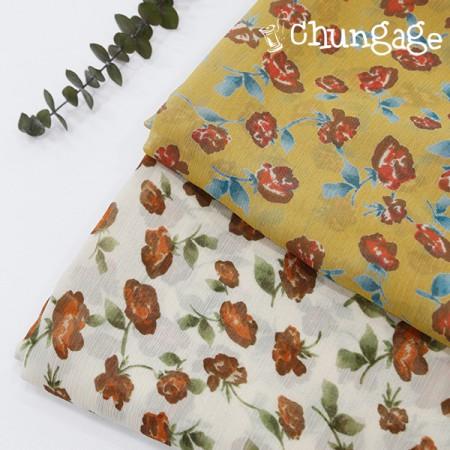 大yoru雪纺)玫瑰雪纺(两种)