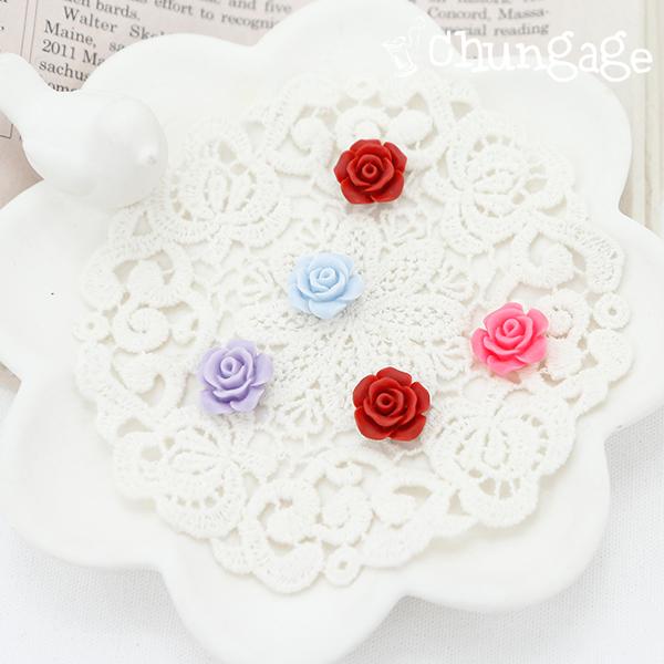 装饰纽扣迷你玫瑰塑料纽扣附胶枪(2件/ 4种)