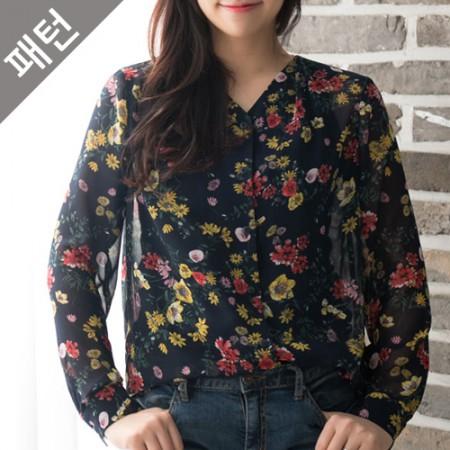 图案 - 女装)女式衬衫[P1051]