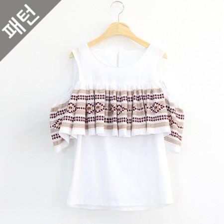图案 - 女装)女式衬衫[P653]
