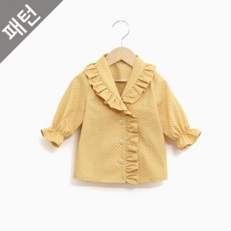 图案 - 儿童)童童女式衬衫[P1059]