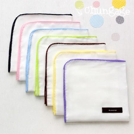 缝制手帕)棉花糖(7color)