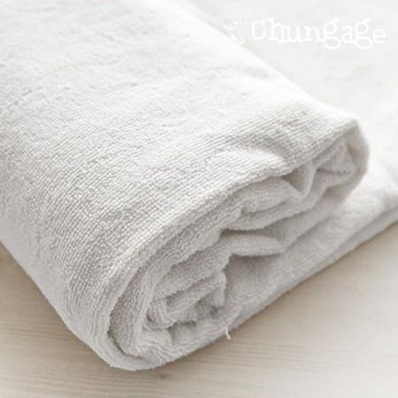 100%竹子特级双面毛巾(白色儿童)