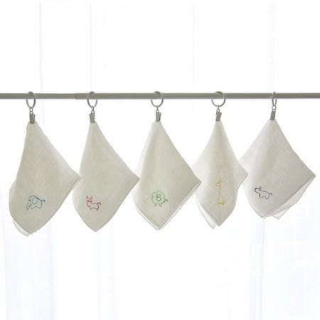竹手帕)棉花糖刺绣(5张1套)