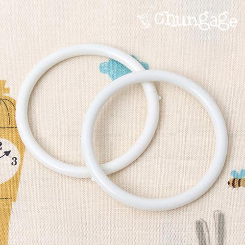圆环塑料环65mm乳白色