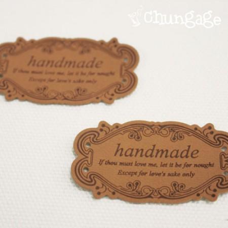 皮革标签超薄皮革标签古董框架手工米