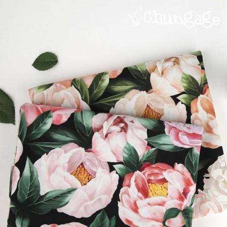 最好的DTP20编织布)牡丹花(2种)