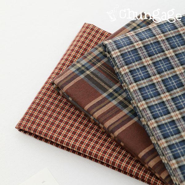 大型纯棉20)蓝棕色格纹(3种)