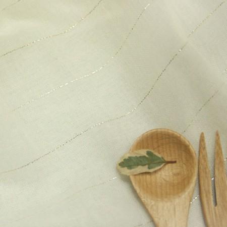 大号 - 服装纱布)金属垂直条纹[1360]