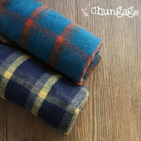 宽屏 - 羊毛混纺)羊毛混纺亚克力检查(2种)