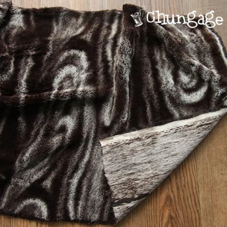 显著毛皮织物)大理石花纹