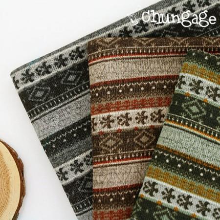大拉绒针织面料)土耳其条纹(三种)