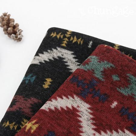 大拉绒针织面料)Aztec(2种)