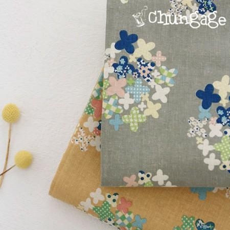 大号-11号亚麻布)乳白色花(两种)