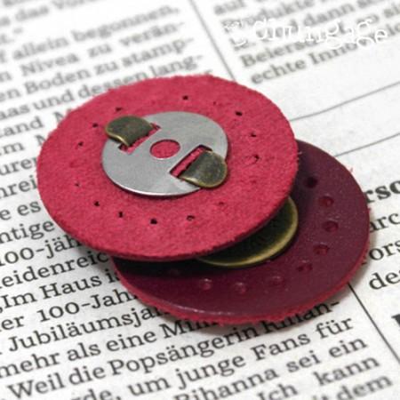 袋扣磁扣纽扣小巧3cm红色