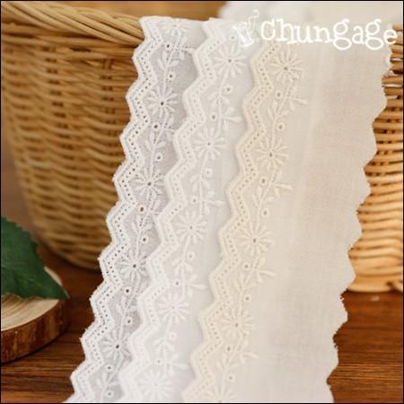 棉花蕾丝棉077三色小花(三种)