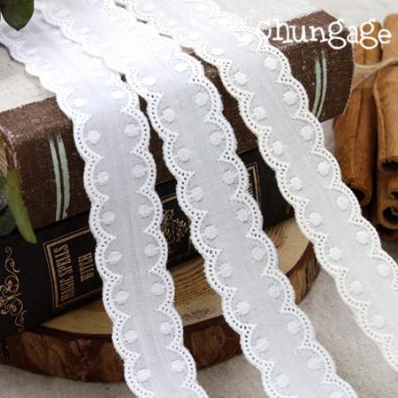 棉花蕾丝棉078圆点胶带双面花边(3种)