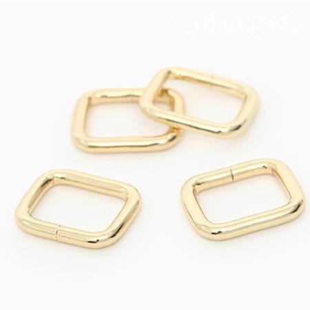 袋连接装饰基本ㅁ戒指方圈金(三种)