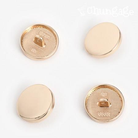 圆形按钮20毫米金[4件]