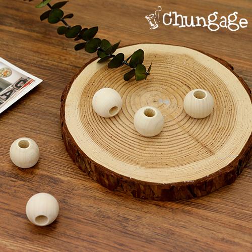 花边材料花边密封木珠木球珠(天然)25mm